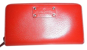 Kate Spade KATE SPADE WELLESLEY NEDA ZIP AROUND RED FULL SIZE WALLET
