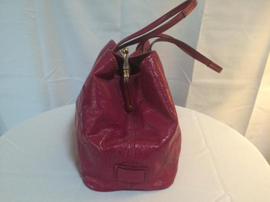 Coach Patent Leather Tote in Berry