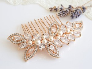 New Swarovski Pearl And Rhinestone Bridal Hair Comb