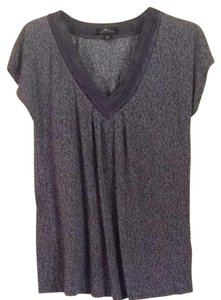 Carole Hochman T Shirt Light & Dark Gray