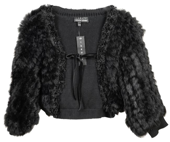 Item - Black Knitted Rabbit Shrug