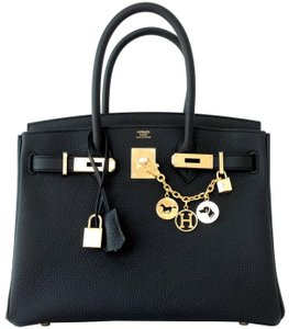 Hermès Hermes Birkin 30 Satchel in Black