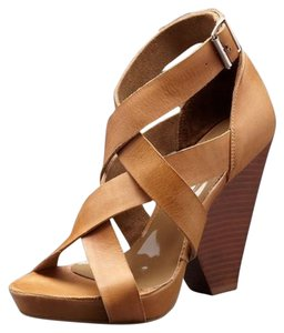 Kathryn Amberleigh Sandal Sandal Tan Sandal Heel Sandal Tan Leather Wedges