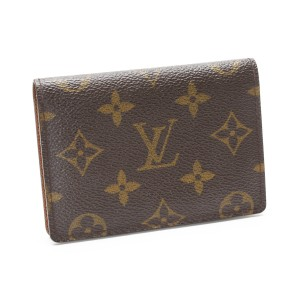 Louis Vuitton Louis Vuitton Porte Cult Vertical Monogram Pass Card Case M60533 Mens