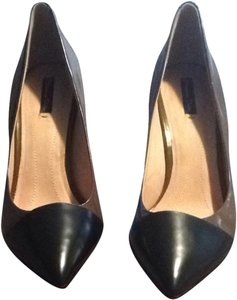 Massimo Dutti Black & Green Khaki Pumps