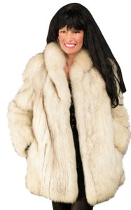 Saga Furs Fur Fox Fur White Fox White Fox Fur Coat