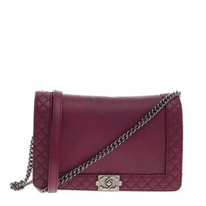 Chanel Leather Red Clutch