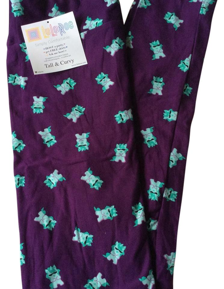 6fa6538954e618 LuLaRoe Purple White Turquoise Tc Leggings Size 16 (XL, Plus 0x ...