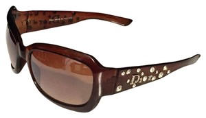 Dior Dior Brown Rhinestone Aviator Sunglasses