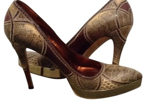 Gucci Brown snakeskin Platforms