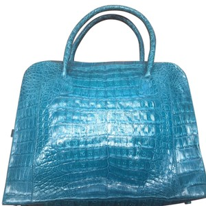 Nancy Gonzalez Crocodile Exotic Tote in Turquoise Blue