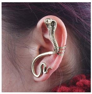 Other Vintage Gold /Silver Snake Ear Cuff Wrap Clip Earrings Bronze Finish