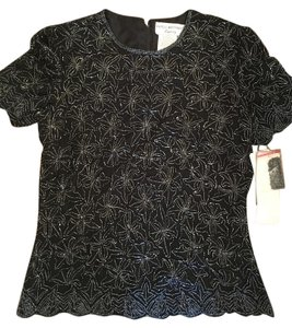 Papell Boutique Top Black
