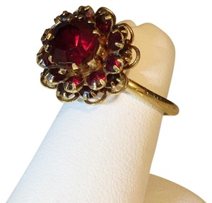 Sarah Coventry Sarah Coventry Adjustable Cz Crystal Red Ruby Ring