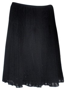 J.Crew Silk Sparkle Party Skirt Black