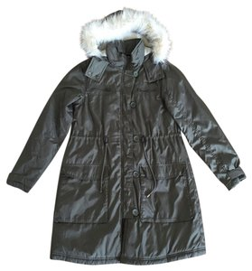 H&M Parka Puff Filled Shearling Long Coat