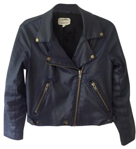 Current/Elliott Waxed Cotton Vegan Biker Motorcycle Barneys Motorcycle Jacket