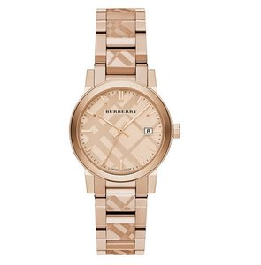 Burberry Burberry BU9146 Women's Stamped Swiss Rose Gold Ion-Plated Watch NEW!