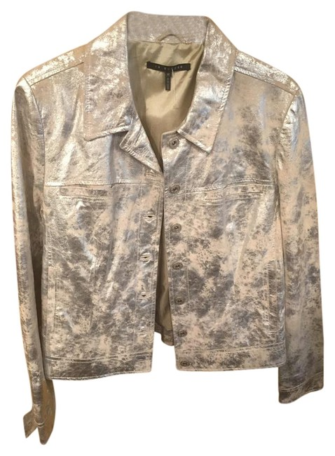 Leather Silver Leather Jacket #19560992 - Jackets low-cost