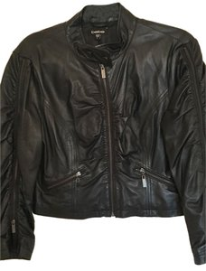 bebe Leather Motorcycle Simple Leather Jacket