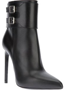 Saint Laurent Yves Pointed Black Boots