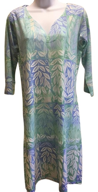 Item - Classic Posies Green 3/4 Sleeve Knee Length Short Casual Dress Size 12 (L)