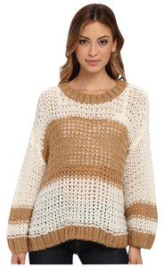 Free People Cream Beige Sweater