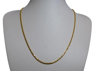 Small Gold Nugget Sparkle Chain, 14 KT Yellow Gold, 19-Inch