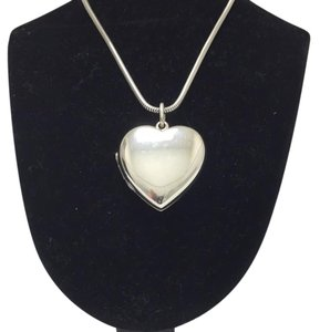 Tiffany & Co. Tiffany & Co. Sterling Heart Locket with Chain