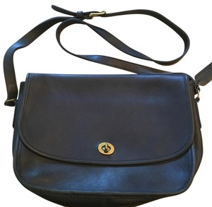 Coach Black Leather Shoulder Bag Shoulder Bag