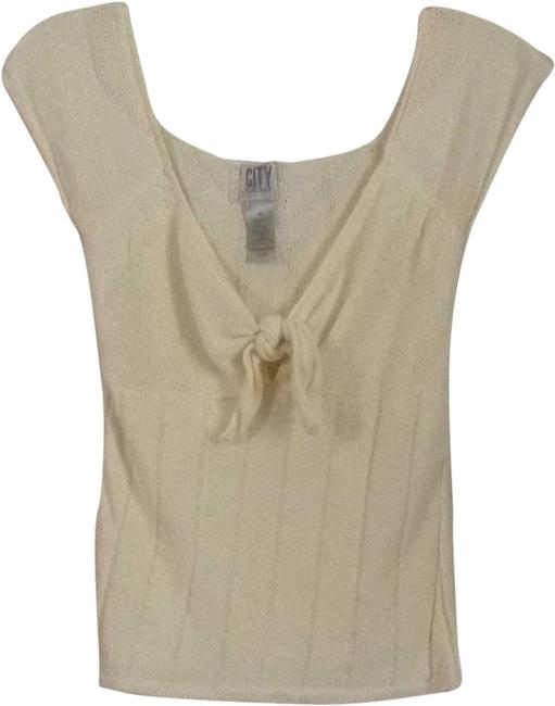 Preload https://item4.tradesy.com/images/dkny-cream-tee-shirt-size-8-m-1956173-0-0.jpg?width=400&height=650