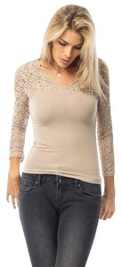 Hippie Boho Top Beige