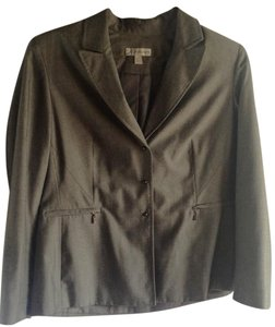 dressbarn Snap Buttons Fitted Gray Blazer