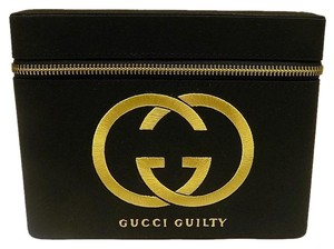 Gucci Gucci Black Cosmetic Beauty Box Makeup Pouch Satin Travel Organizer