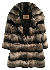 Yves Salomon Chinchilla Fur Coat
