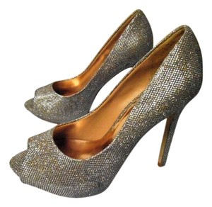 Badgley Mischka Stiletto Heels Metallic gold and silver Formal