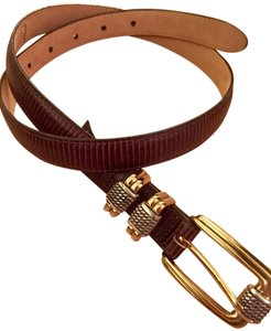 Brighton Brighton Leather Belt 30 Size gold and silver hardware