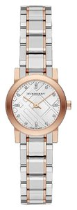 Burberry Burberry Swiss Genuine 16 Diamond Rose Gold Silver Watch BU9214