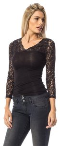 Hippie Boho Top Black