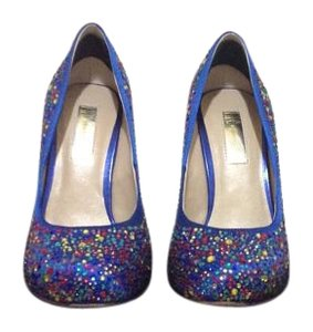 INC International Concepts Cobalt blue with gem embellishments Pumps