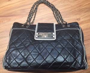 Chanel Leather Chain Tote in BLACK