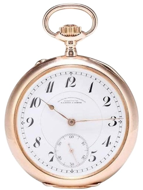 Item - Glashutte Dresden 18k Yellow Gold Grade Pocket Watch