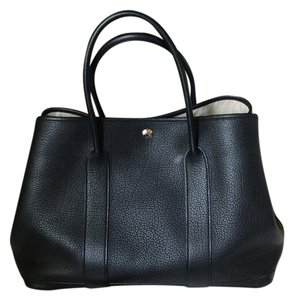 Hermès Garden Party 36 Leather. Tote in Black