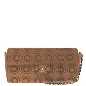 Chanel Pony Hair Brown Clutch