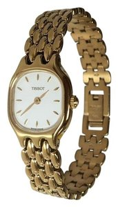 Tissot TISSOT Gold Plated/White Dial Ladies Watch