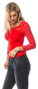 Hippie Boho Top Red