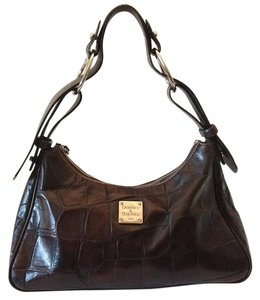 Dooney & Bourke Croc Embossed Leather Shoulder Bag