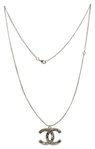 Chanel #8713 XL large CC baguette crystals glitters two side long necklace