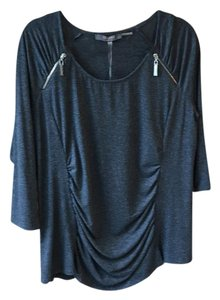 Essentials by Milano New With Tags Scoop Neck Grey Top Charcoal Grey
