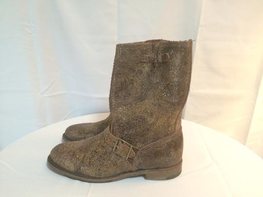 Vintage Shoe Company Distressed Cowboy Western Brown Vintage Leather Boots